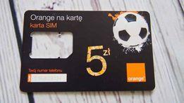 ORANGE RAMKA SIM karta kolekcjonerska