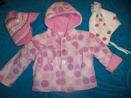 Курточка, пальтишко флис для девочки до1год Демисезонная куртка
