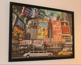 New York City Poster and Large Frame For Sale