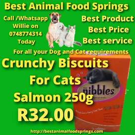 Nibbles Crunchy Biscuits For Cats Salmon 250g