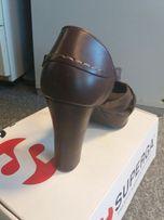 Superga nowe buty skórzane na lato