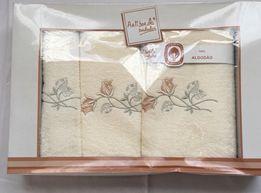 Ręczniki frotte z ozdobnym haftem