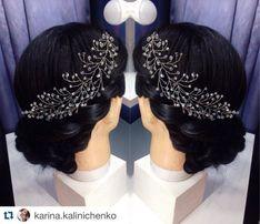 свадебные украшения в волосы гребни для невест