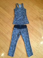 Nike оригинал xs s Шикарный костюм для фитнеса лосины + Майка