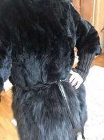 Шуба полушубок меховое пальто кролик рекс песец р 34 евро