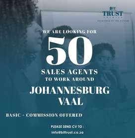 We need 50 Field Sales Agents