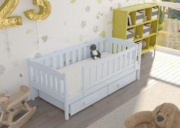 Pastelowe kolory dla dzieci! łóżko dziecięce! solidne, drewniane! 7dni