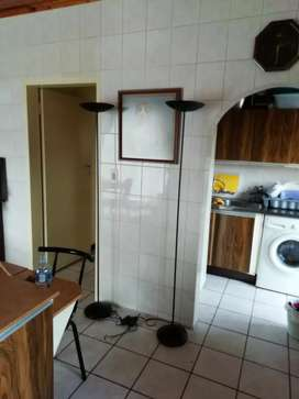 Tall Black Steel Light Stands for sale