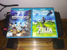 Zelda breath of the wild and Epic Mickey 2 Wii U games