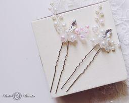 Kokówka ślubna wpinka ozdoba do włosów kryształkowa kwiat JASMINE