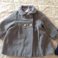 Пальто пальтишко кашемир Zara Зара 12 мес