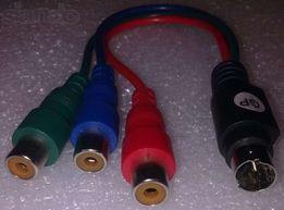 YPbPr компонентный кабель переходник к видеокарте ATI