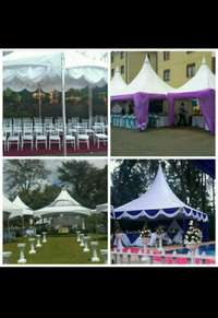 Tents, chairs,tables, deco, stage , PA and lights for hire. Spectrum. 0