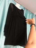 Красивое нарядное праздничное черное платье для беременных 44 46