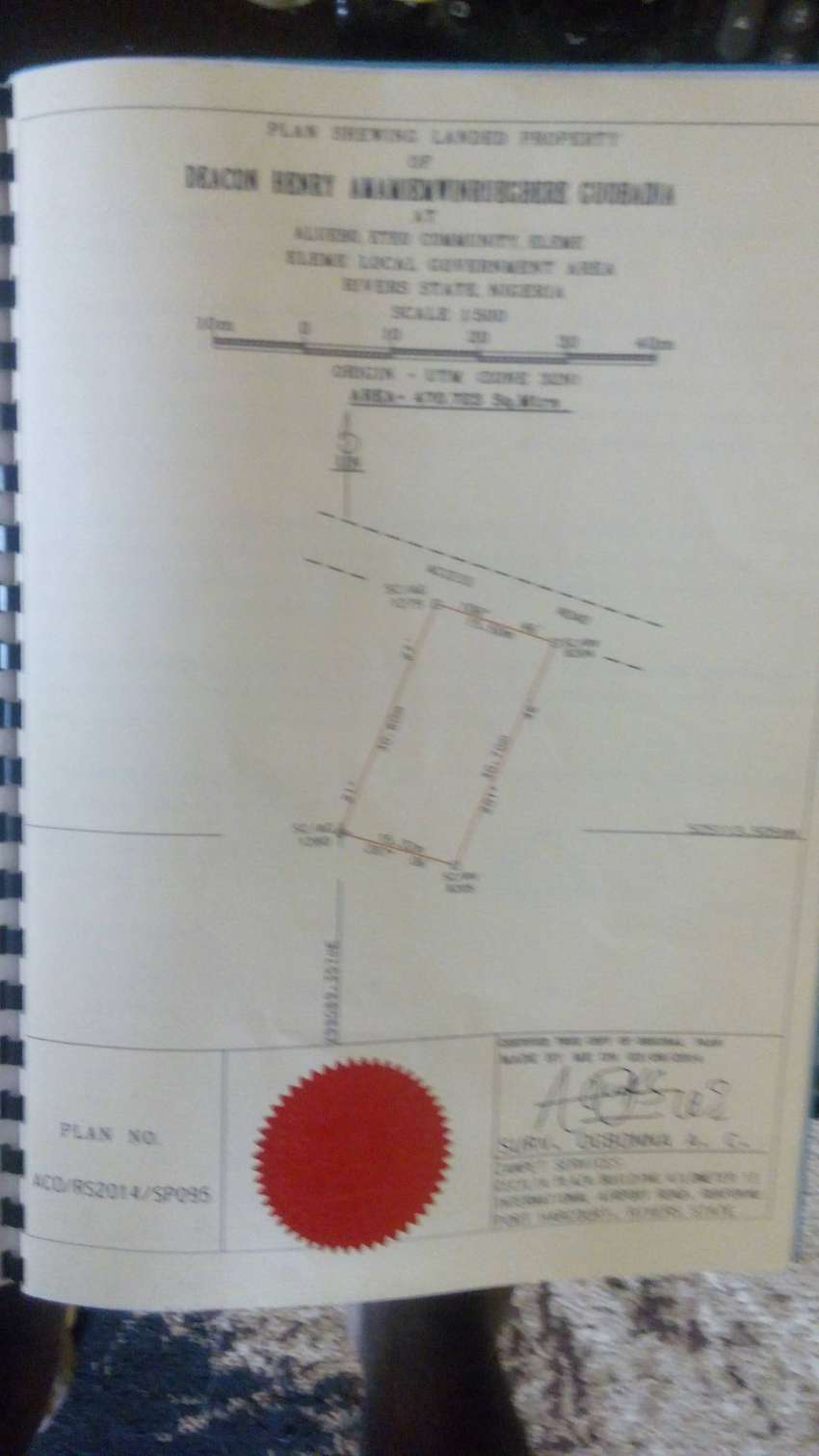A Plot of Land at Eteo Community,  Eleme Local Government,  Rivers. 0
