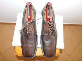 Buty półbuty skórzane brązowe, rozmiar 42, wkładka 29cm