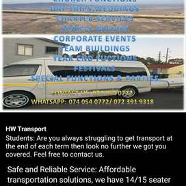 Safe and reliable transportation services