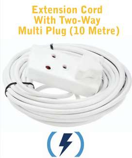 Extension Cord with two-way Multi Plug 10 Metre (Brand New)