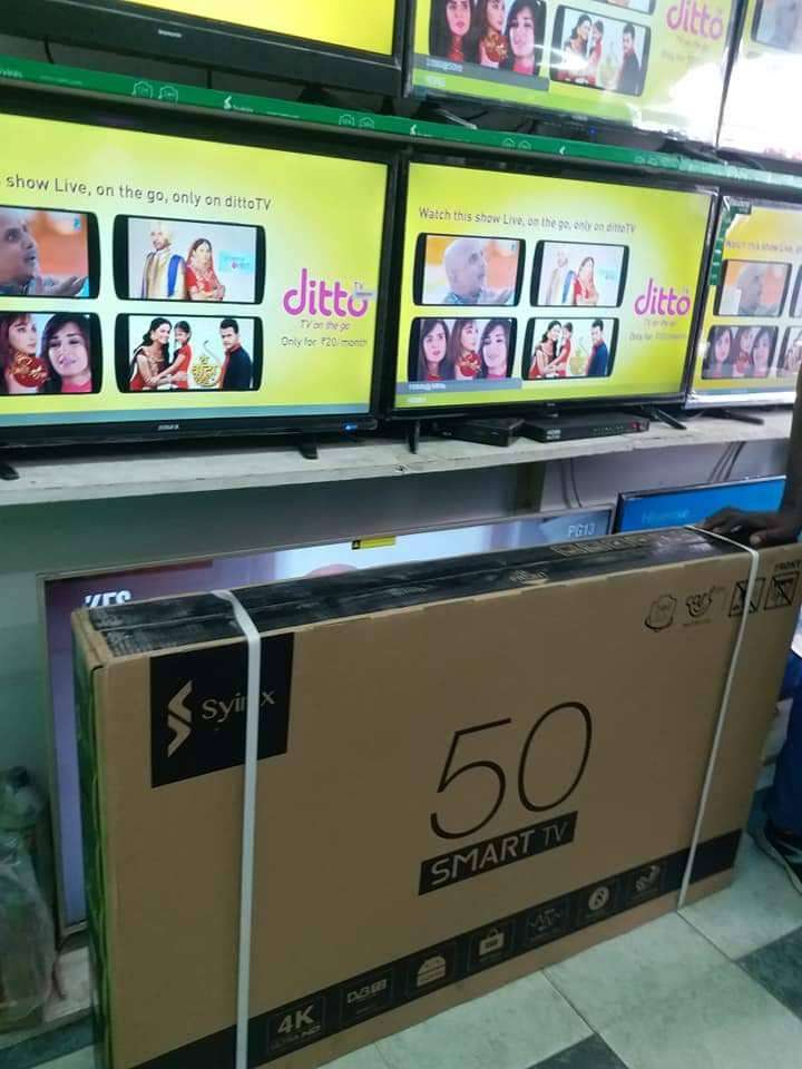 50inches brand new syinix 4k Android TV. Order we deliver 0
