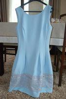 Śliczna błękitna sukienka, nowa-wyprana!