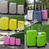 АКЦИЯ НА СКЛАДЕ чемодан валіза сумка на колесах дорожная пластиковый