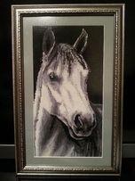 "Вышитая картина "" Лошадь"" 46х30см."