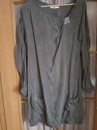 Sukienka Liu jo rozm.42 khaki zielona tunika