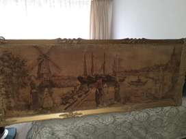 ANTIQUE MATERIAL PAINTING