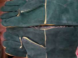 Welding green elbow gloves