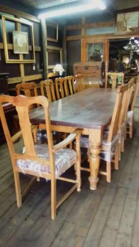 12 seater wooden dining room suit