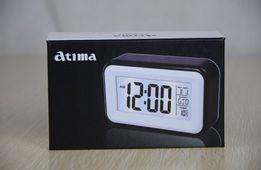 Говорящие настольные часы с подсветкой Atima AT-608TR Чёрные
