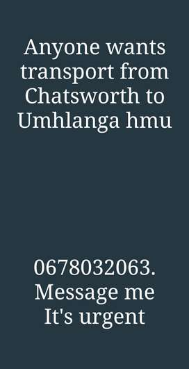 Lift club from Chatsworth to Umhlanga