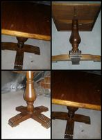 Śliczny retro stolik dębowy kwadratowy 57*57cm