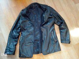 Куртка кожаная, зимняя