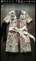 пальто жилетка шуба Италия тигровая леопард
