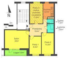 Lębork mieszkanie 4 pok., balkon, piwnica - 72,6m2 + konsultacje arch.