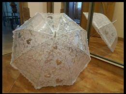 Свадебный зонт для фотосессии ажурный кружевной