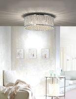 Lampa sufitowa żyrandol LEFES kryształ chrom 6101-17 Paul Neuhaus