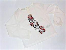 LIU JO dziewczęca bluzeczka z nadrukiem biała 130, 140 cm