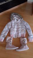 Короткая куртка пуховик abercrombie and fitch р.S +бонус угги р.37-38