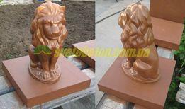 Лев из бетона сидящая фигура на столб бетонная скульптура ворот забора