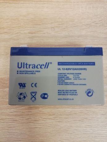"""Akumulator AGM ULTRACELL UL 6V 12AH """"żelowy"""" Częstochowa - image 1"""