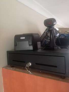 Receipt Printer, Laser Scanner and Till for sale
