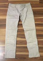 spodnie beżowe letnie cienkie massimo dutti 38 M