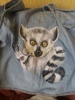 Портрет роспись по ткани подарок на заказ