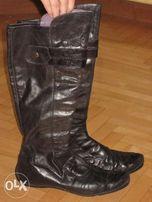 Сапоги ботинки кожа р. 39-40 сумка в подарок