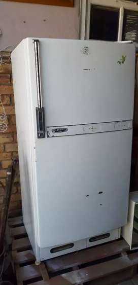 Vintage fridge with small freezer compartment