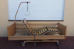 Łóżko rehabilitacyjne elektryczne materac wysięgnik brąz