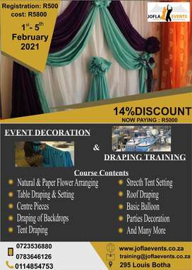 DRAPING AND EVENTS DECORATION TRAINING