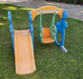 Baby swing and slide set